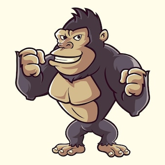 Kingkong gorilla monkey cartoon carino