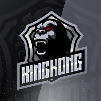 Logo della mascotte sportiva kingkong