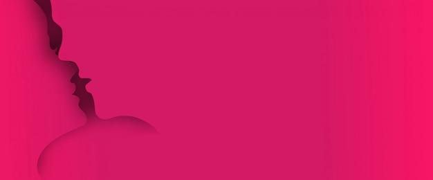 Lo strato di arte di carta 3d baciante pop-up da sfondo con lo spazio per il testo