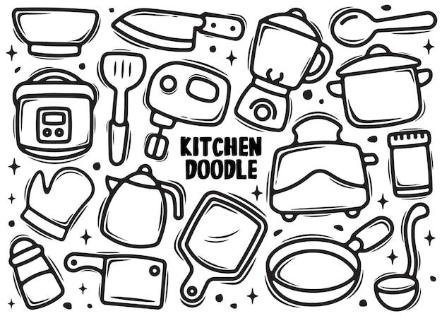 Elemento di cucina doodle