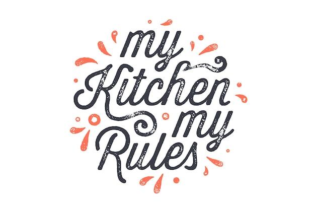 Poster di cucina. decorazione della parete della cucina, segno, citazione.