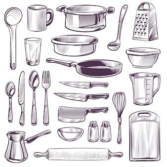 Illustrazione di utensili da cucina