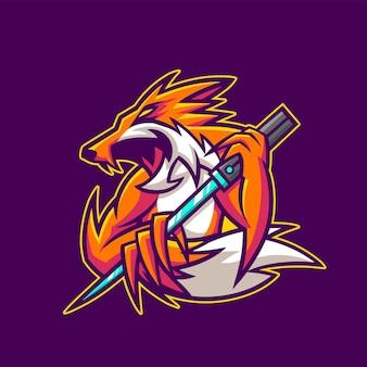 Kitsune fox esport gaming logo