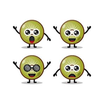 Personaggio mascotte kiwi carino