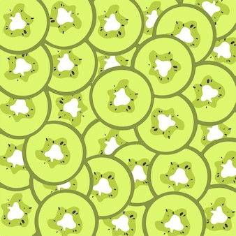 Kiwi fetta pattern sfondo frutta illustrazione vettoriale