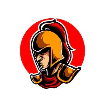 Logo della mascotte di knight e sport