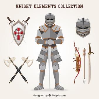 Elementi del cavaliere con stile classico