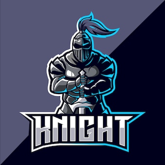 Knight mascotte esport logo design