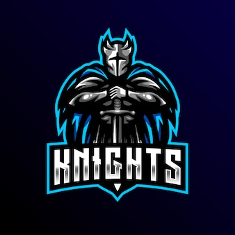 Knight mascot logo esport gaming