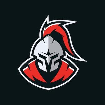 Logo della mascotte del cavaliere