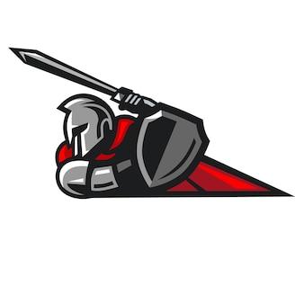 Distintivo di logo attacco di cavalieri
