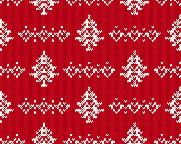 Motivo natalizio a maglia.