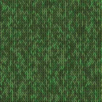 Colore verde tessitura a maglia. tessuto senza cuciture. sfondo di lavoro a maglia design piatto.