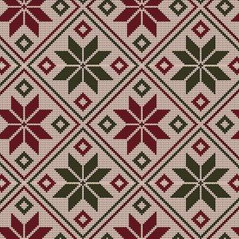 Concetto di reticolo di natale lavorato a maglia