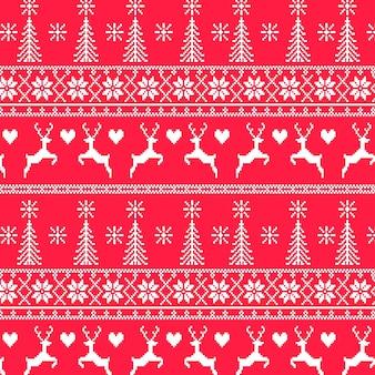 Motivo natalizio lavorato a maglia