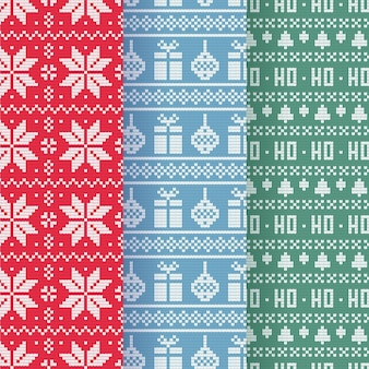 Set di modelli natalizi a maglia