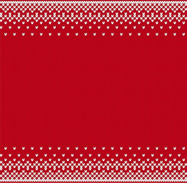 Disegno geometrico lavorato a maglia per un maglione Vettore Premium