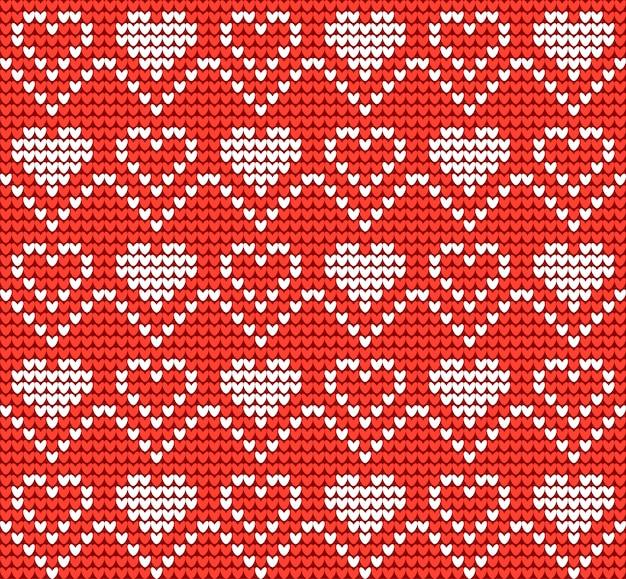 Modello lavorato a maglia per san valentino o natale