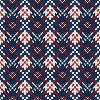 Modello senza cuciture lavorato a maglia in stile fair isle