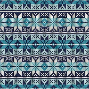 Maglione lavorato a maglia. fair isle seamless pattern