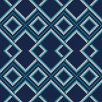 Modello di maglione lavorato a maglia con imitazione di trama a maglia di lana