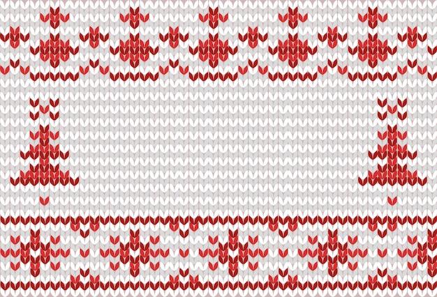 Sfondo invernale lavorato a maglia con posto per il testo