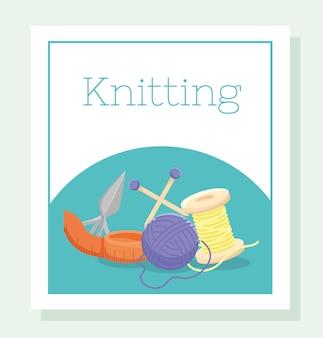 Poster di ferri da maglia