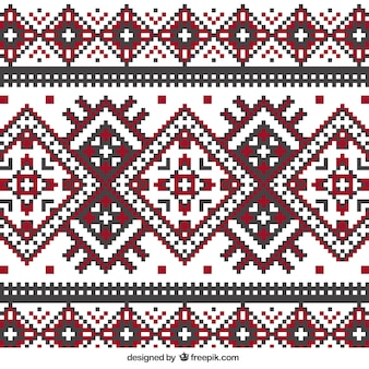 Maglieria pattern in stile geometrico Vettore Premium