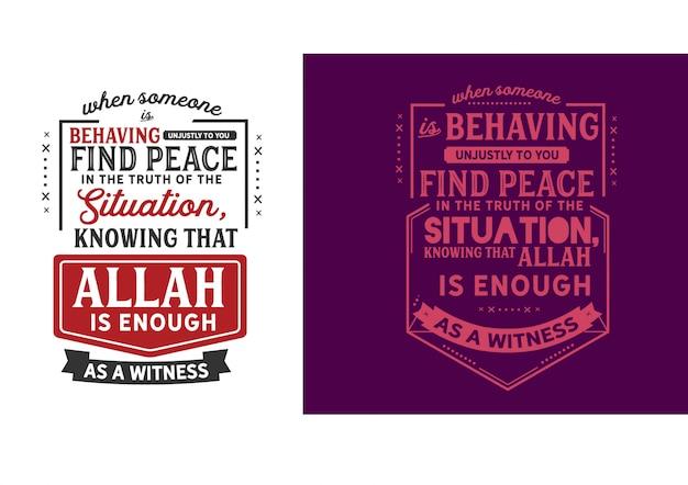 Sapendo che allah è sufficiente come testimone.