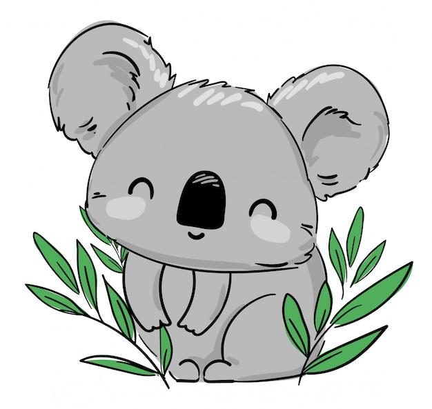 Koala bella carina illustrazione infantile. illustrazione.