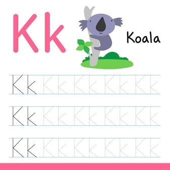 Koala disegno linea disegno vettoriale