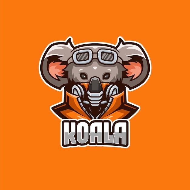 Modello logo koala e-sport