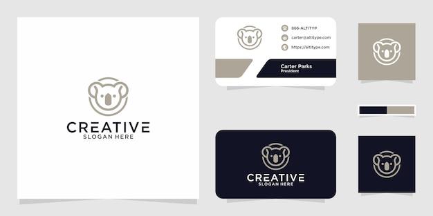 Il design grafico del logo koala per altri usi è perfetto