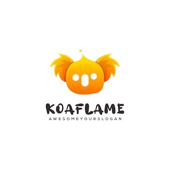 Modello logo koala