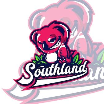 Logo mascotte koala