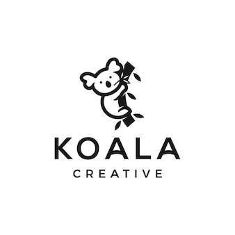 Design del logo minimalista koala