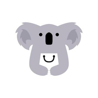 Koala negozio negozio shopping bag logo icona vettore illustrazione