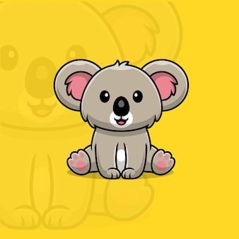 Koala seduto cartone animato