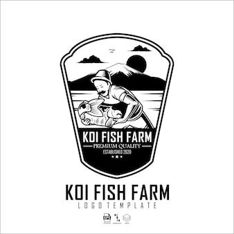 Modello logo fattoria koi