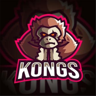 Logo di gioco kong esport