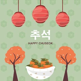 Poster chuseok coreano