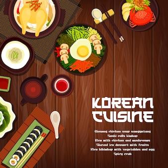Cucina coreana sushi rotoli kimbap