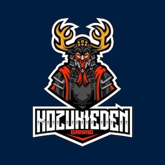 Modello di logo di kozuki eden esport