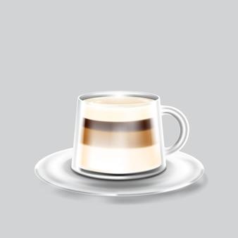 Sacchetto per alimenti con chiusura a zip in lamina di carta kraft con tazzina da caffè modello mockup per logo