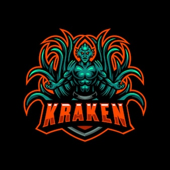 Kraken mascotte logo esport gioco