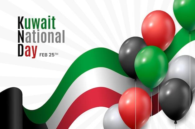 Giornata nazionale del kuwait in design piatto