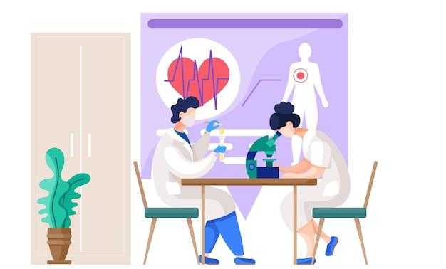 Assistenti di laboratorio che fanno ricerca.