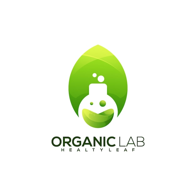 Bottiglie di laboratorio logo colorato astratto