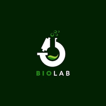 Logo di laboratorio semplice scienza della natura con il vetro