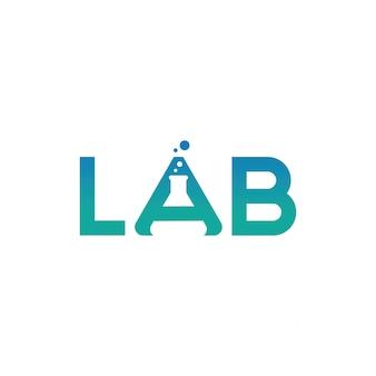 Disegno vettoriale di logo del laboratorio